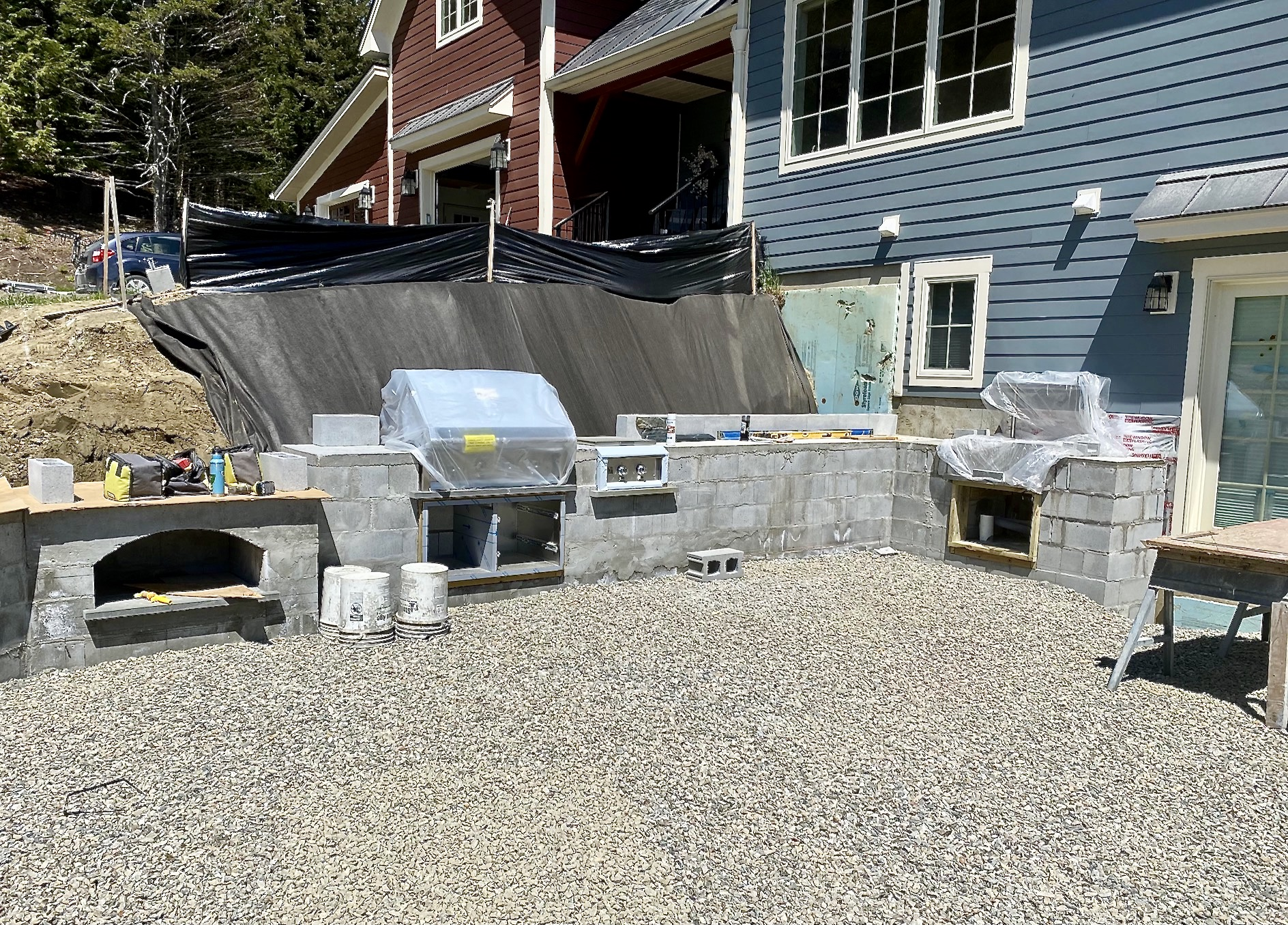 Stowe Outdoor Kitchen Construction